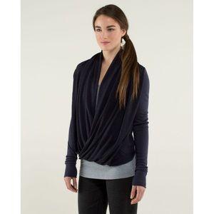 LULULEMON iconic blue stripe wrap sweater